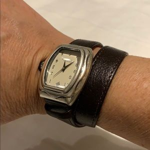 Silpada leather watch